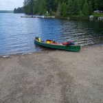 Canoe all ready for Canoe Lake