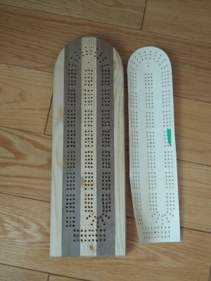 Cribbage board_face