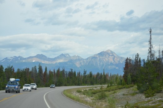 Icefields Parkway towards Jasper