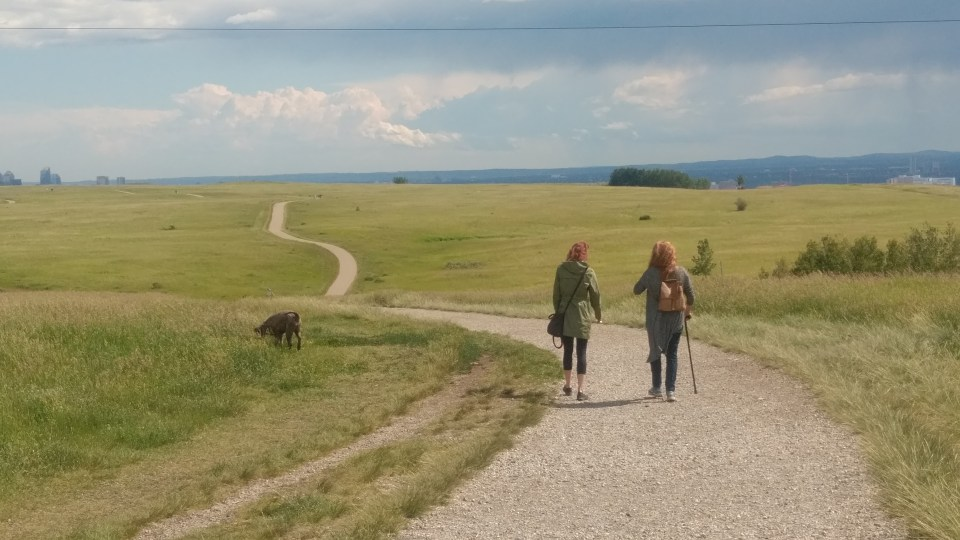 Nicole and I at Nose Hill Natural Environment Park, Calgary, Alberta