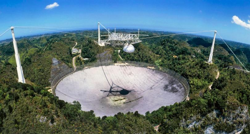 The Arecibo Radio Telescope in Puerto Rico is one of the most sensitive and powerful antennae on Earth.