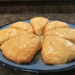 Orange Zest Scones with Orange Glaze