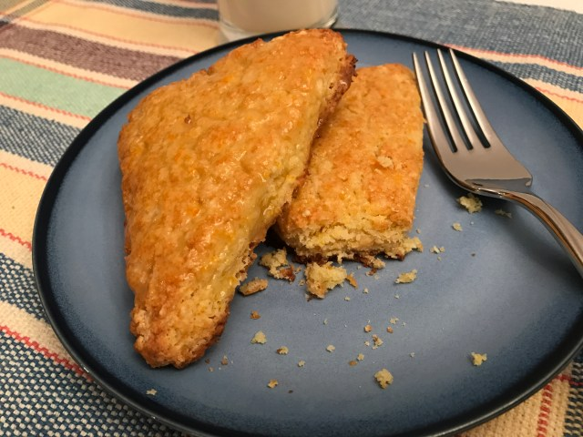 Orange Zest Scones - Gluten Free / Sugar Free on plate