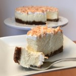 Coconut Cheesecake slice and fork
