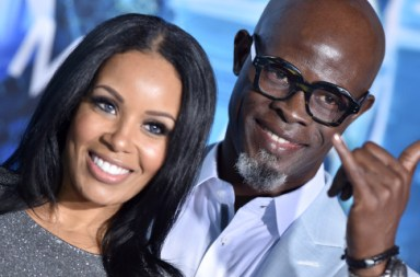Blended: Djimon Hounsou Steps Out With New Girlfriend And Kimora's Kiddies For 'Aquaman' Premiere [Photos]