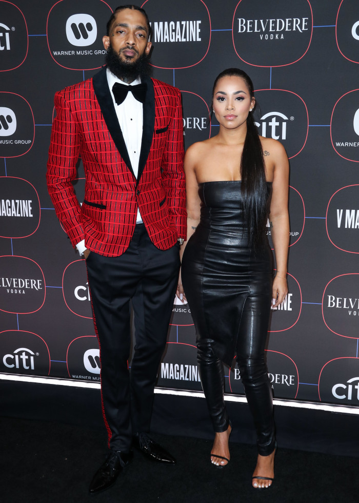 Nipsey Hussle and Lauren London Warner Music Group Pre-Grammy Party