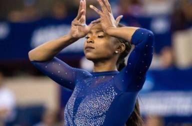 #BlackGirlMagic UCLA Gymnast Nia Dennis Wows With 'Black Excellence' Floor Routine