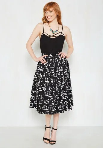 Modcloth Music Note Skirt