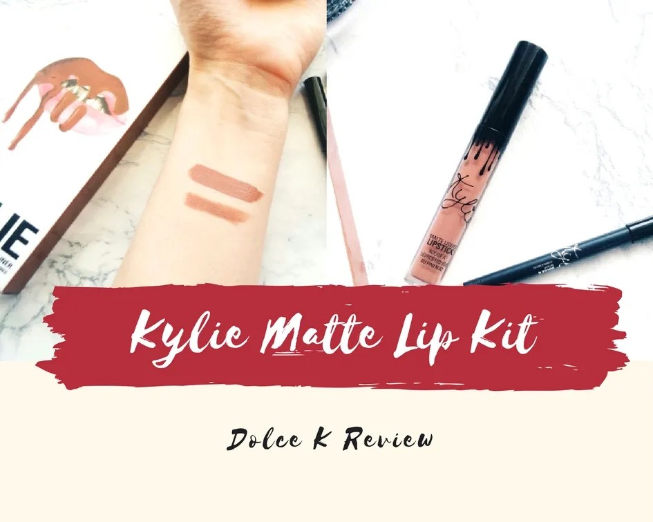 Kylie Matte Lip Kit in Dolce K Review