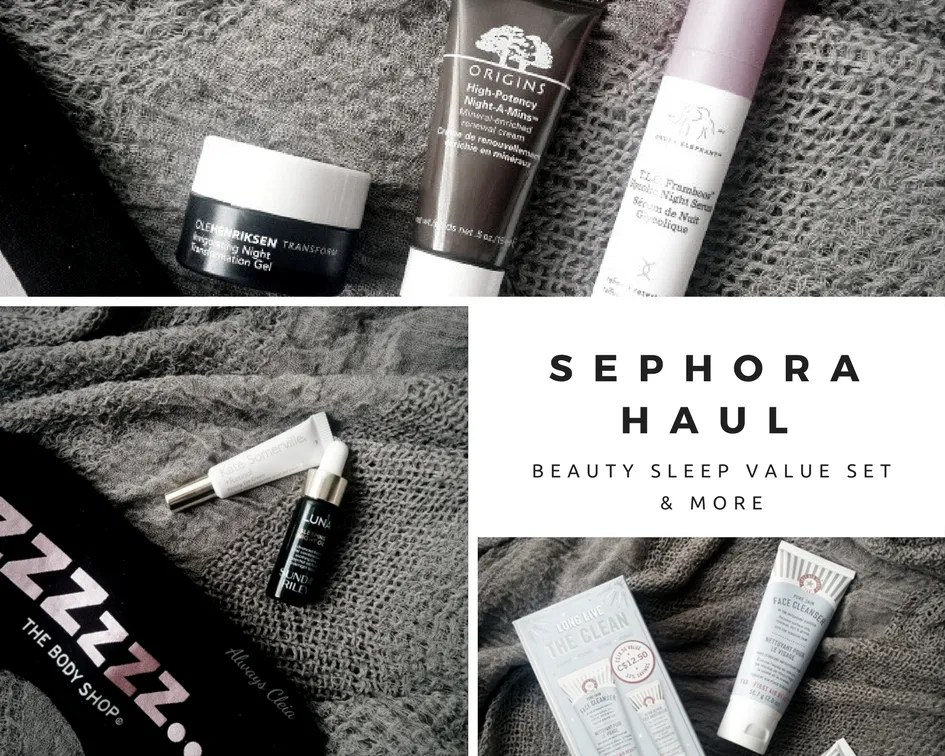 Sephora Haul + Sephora Favorites Beauty Sleep Value Set