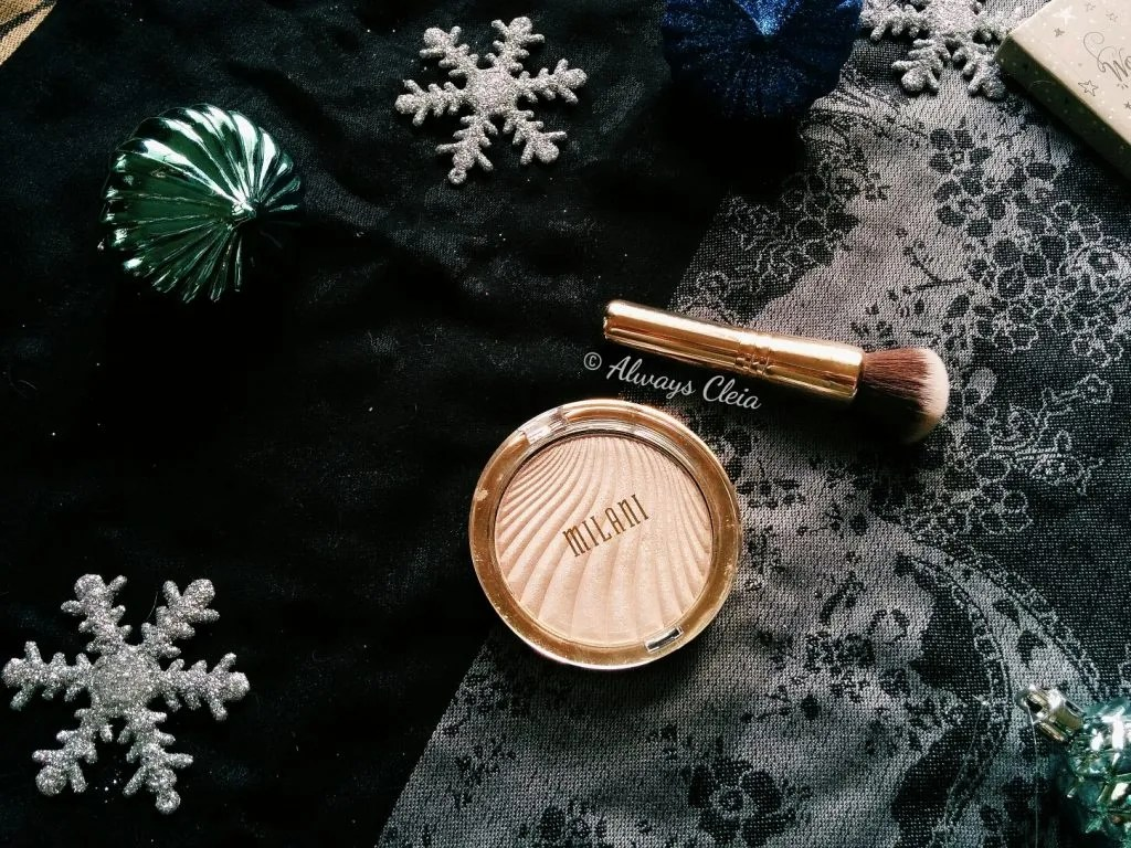 Milani Strobelight Highlighter & Sephora Sparkle & Shine Brush