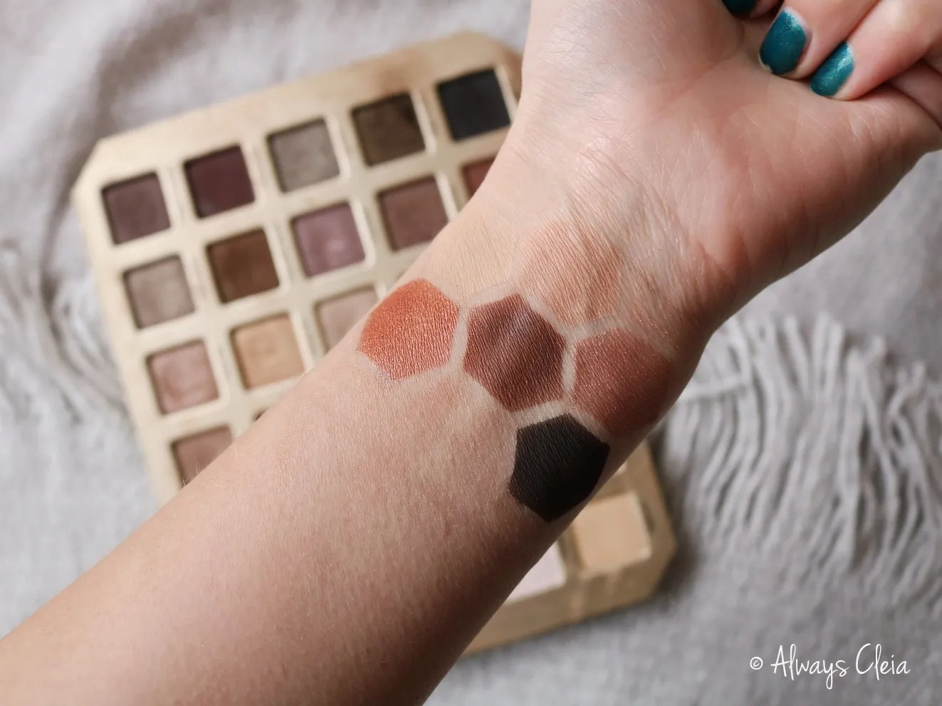 Too Faced Natural Love Palette Swatches Row 5