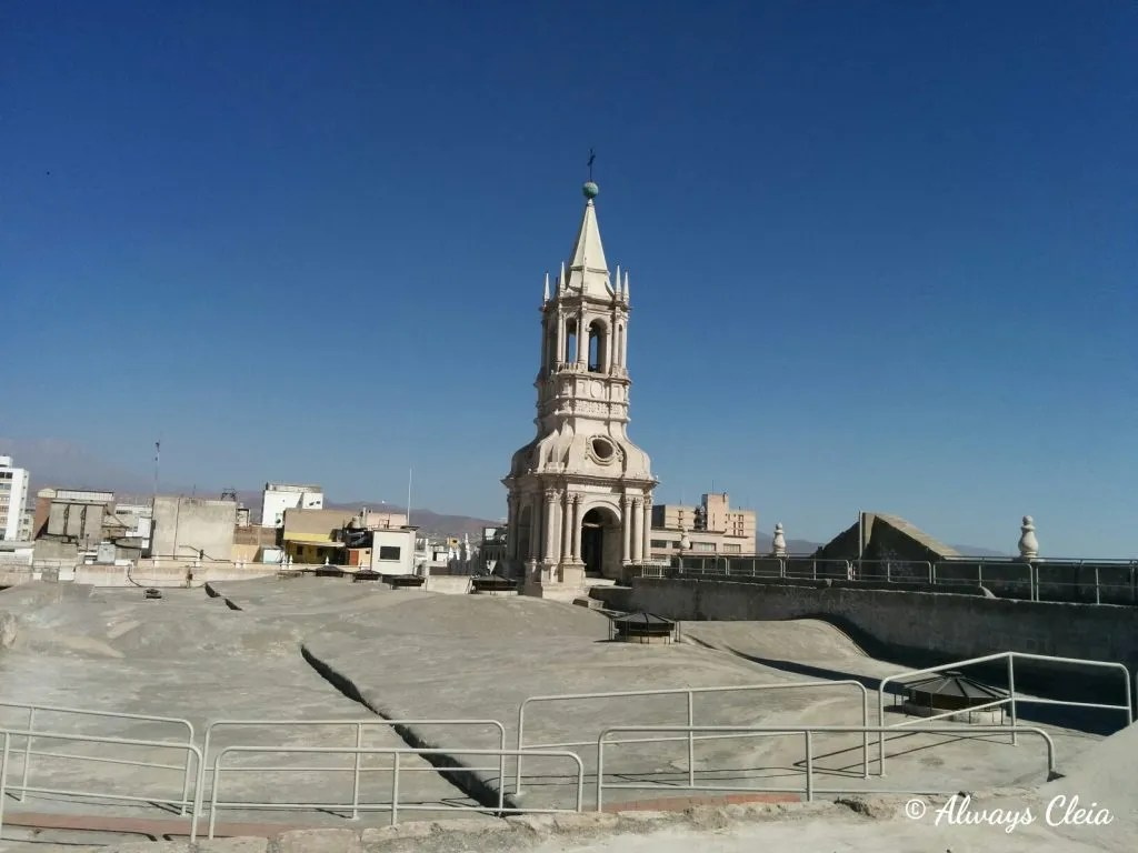 Rooftop Basilica Cathedral of Arequipa