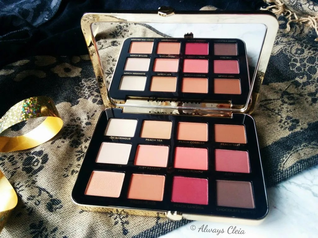 Too Faced Just Peachy Mattes Palette Colour Story