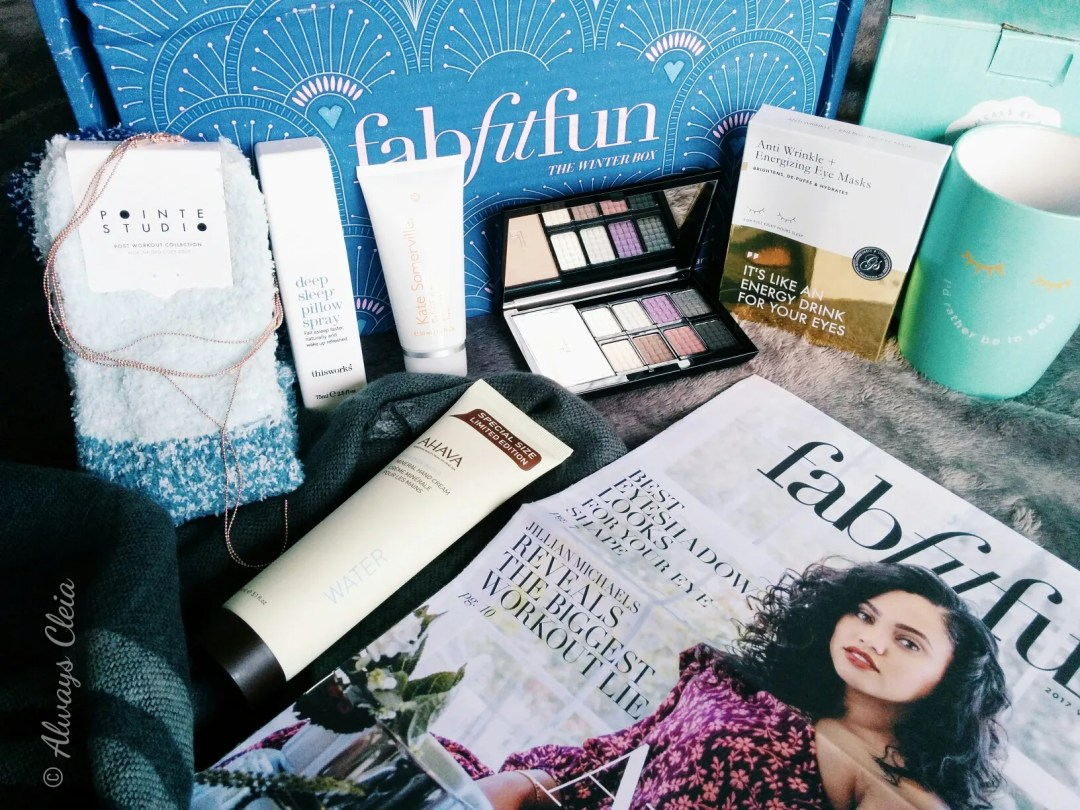 FabFitFun Winter Box Flatlay