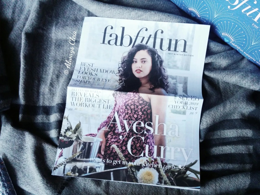 FabFitFun Winter Box Magazine