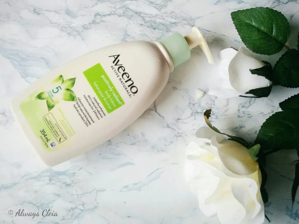 Aveeno Positively Radiant Soy Body Lotion