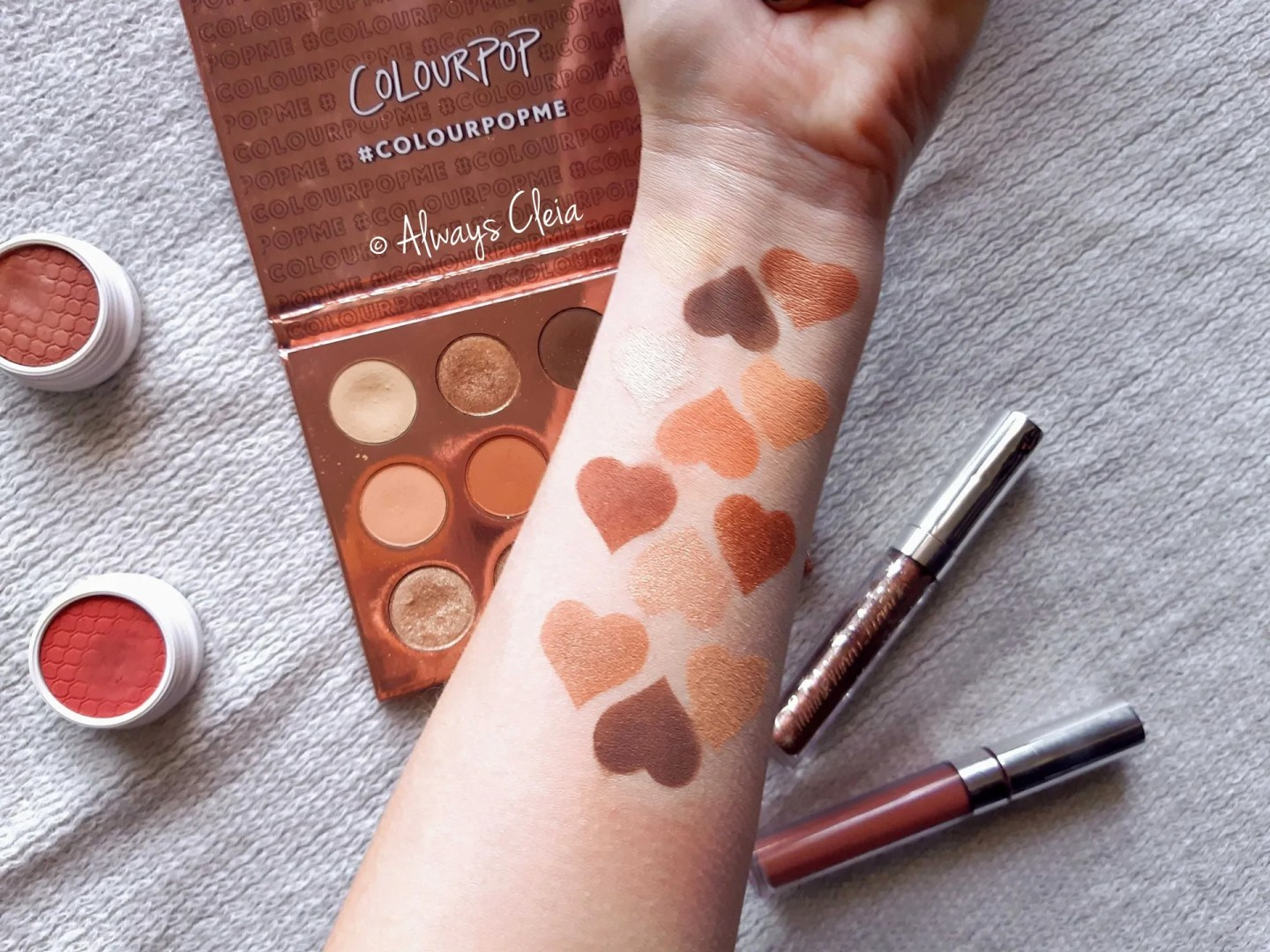 ColourPop Double Entendre Swatches