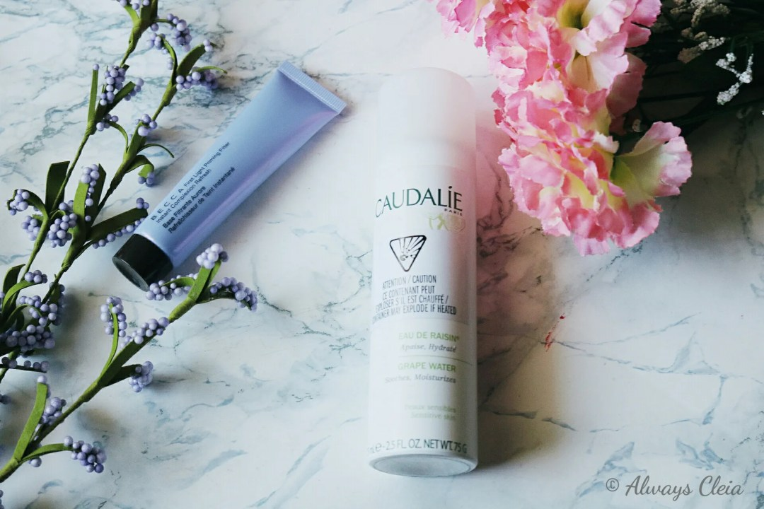 Becca First Light Primer & Caudalie Grape Water