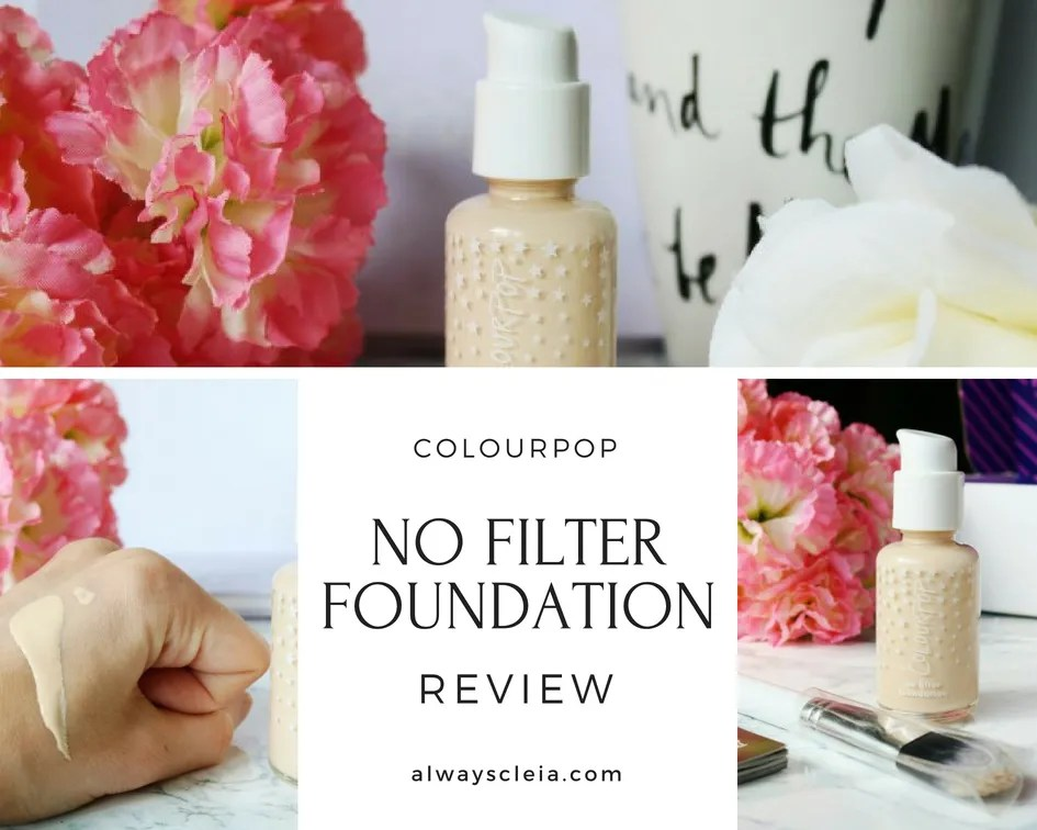 ColourPop No Filter Foundation Review