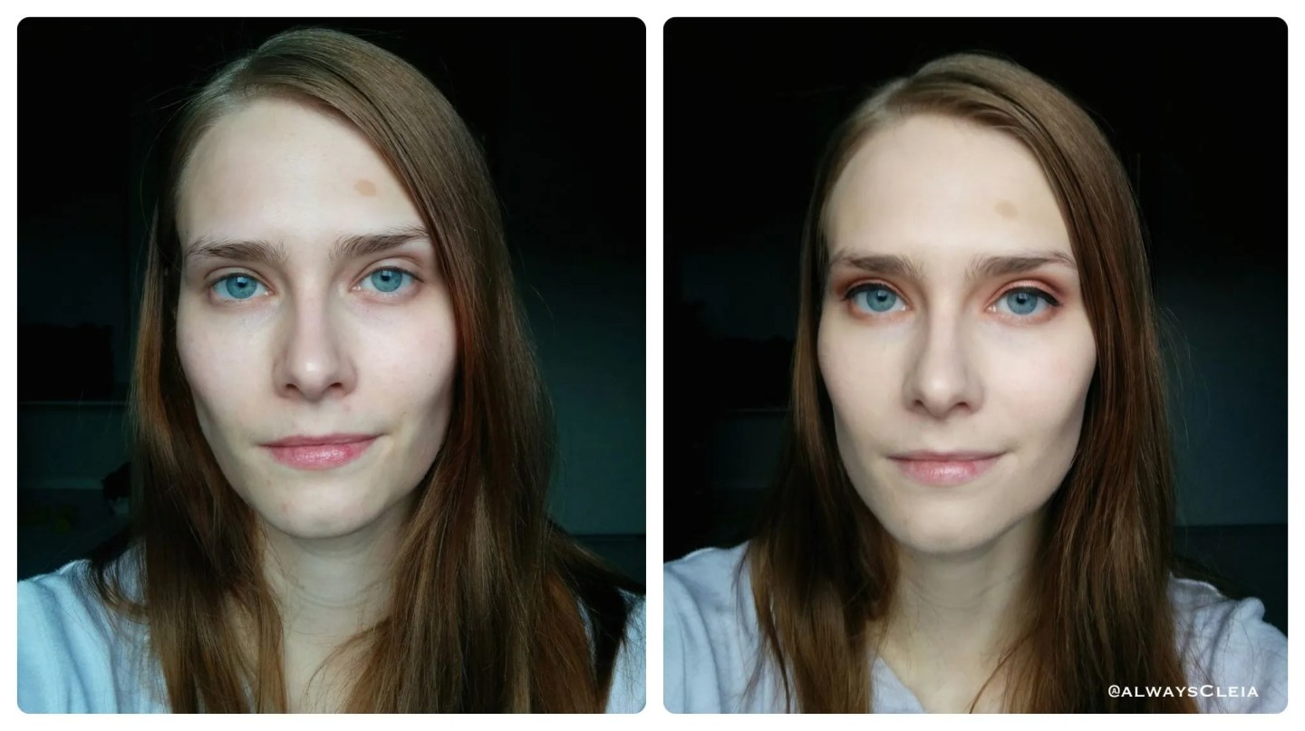 it cosmetics CC+ Cream Before & After