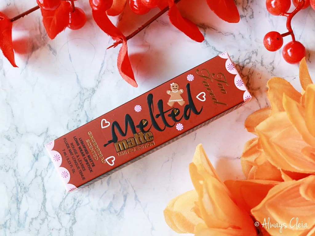 Too Faced Gingerbread Girl Melted Matte Lipstick Review | Packaging