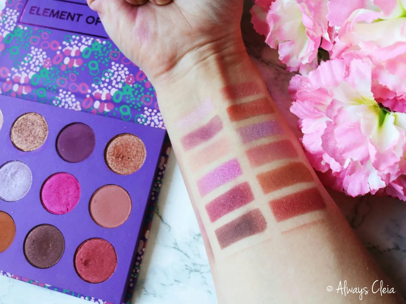 ColourPop Element of Surprise Palette Swatches