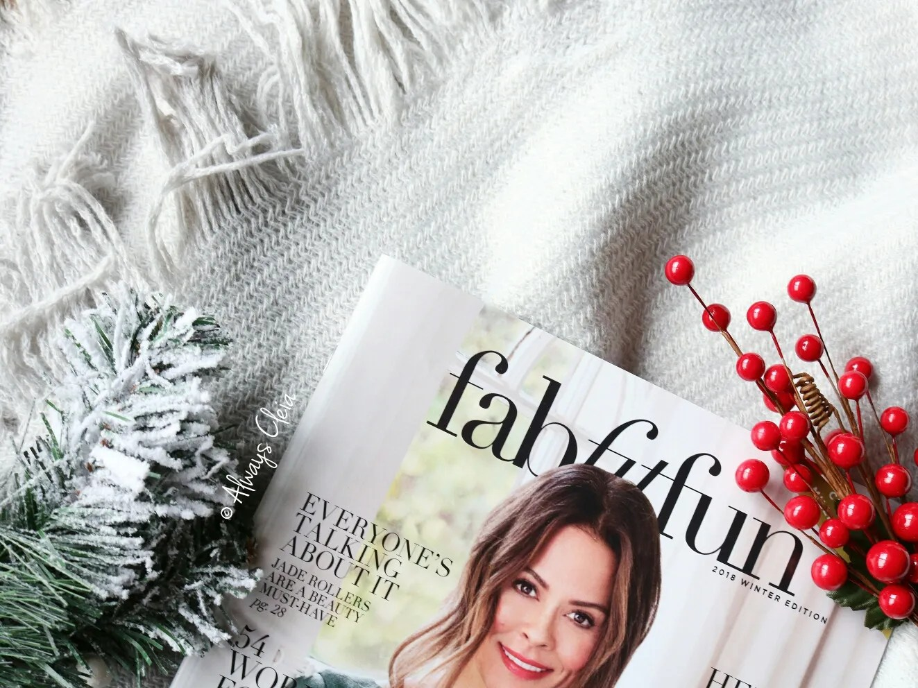 Mark & Graham Throw Blanket Fabfitfun Winter 2018