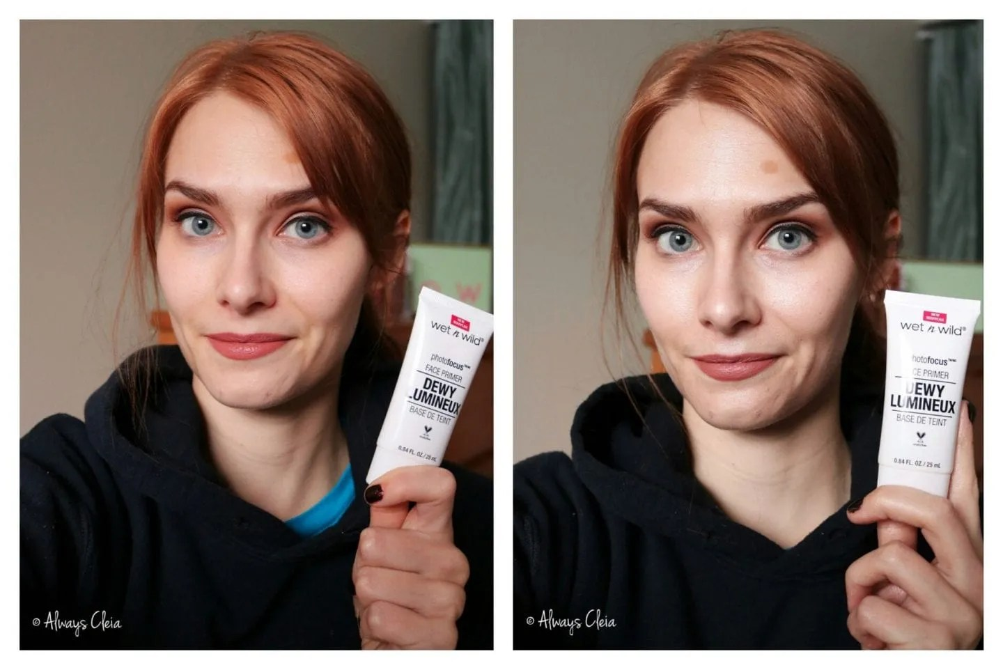 Wet N Wild Photofocus Dewy Primer Before & After