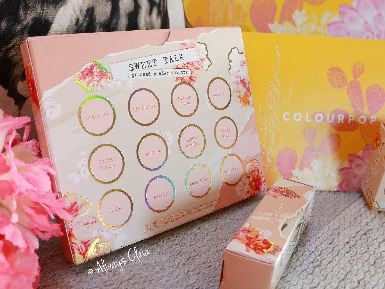 Colourpop Spring Collection | Sweet Talk Palette Packaging