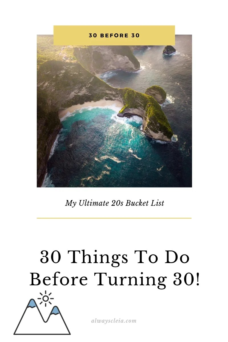 My 30 Before 30 List | Life, Goals, Dreams