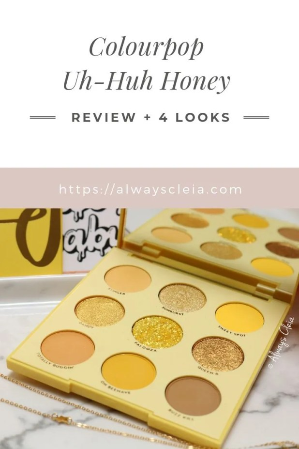 3 Looks + Review Uh Huh Honey Palette