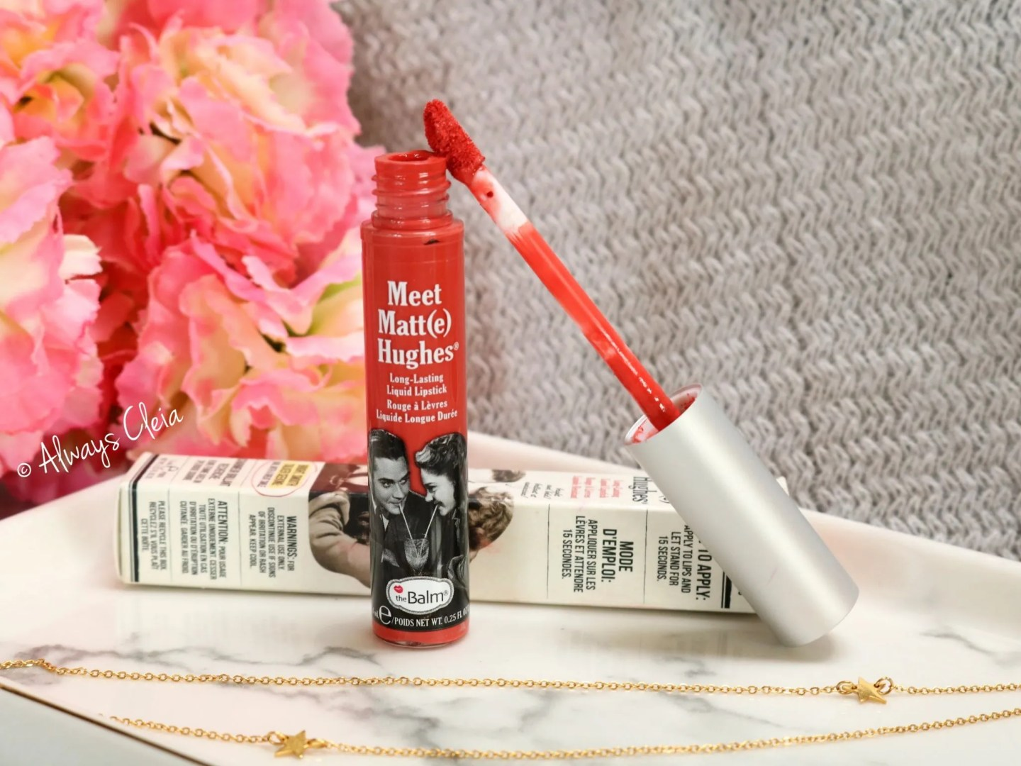 The Balm Meet Matte Hughes Lipstick in Honesty