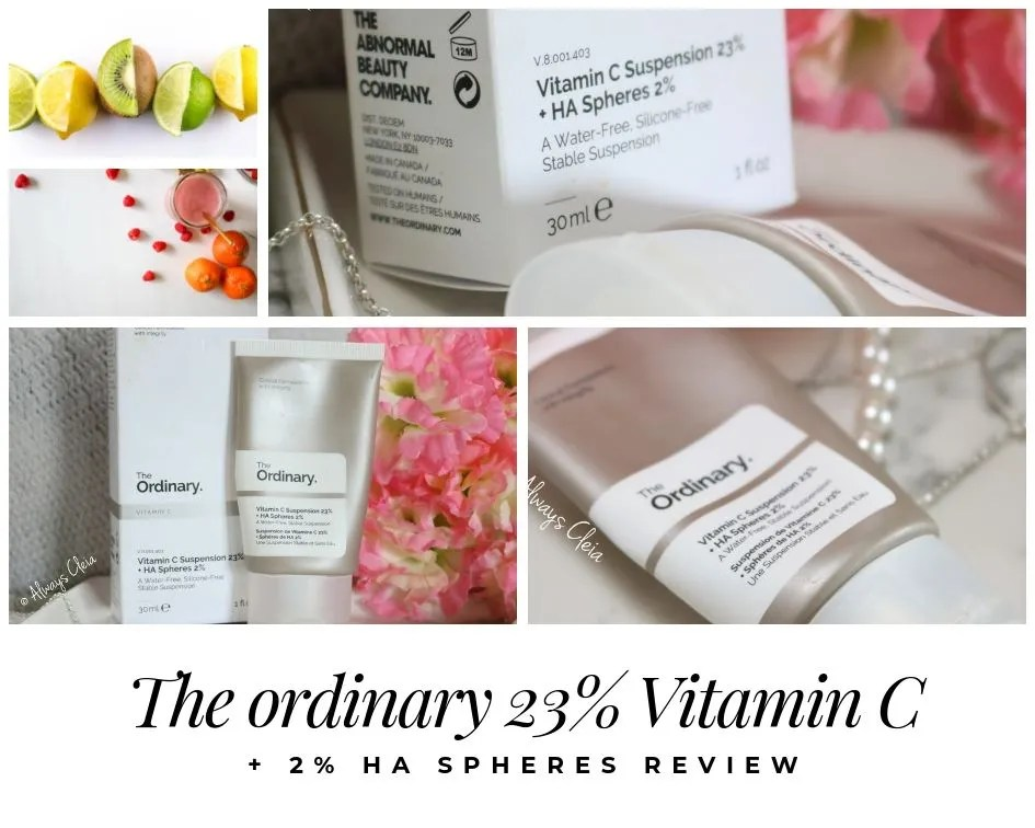 The Ordinary 23% Vitamin C suspension + HA Spheres 2% Review