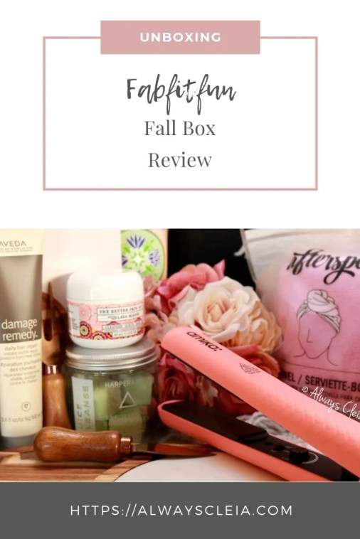Fabfitfun Fall Box Review