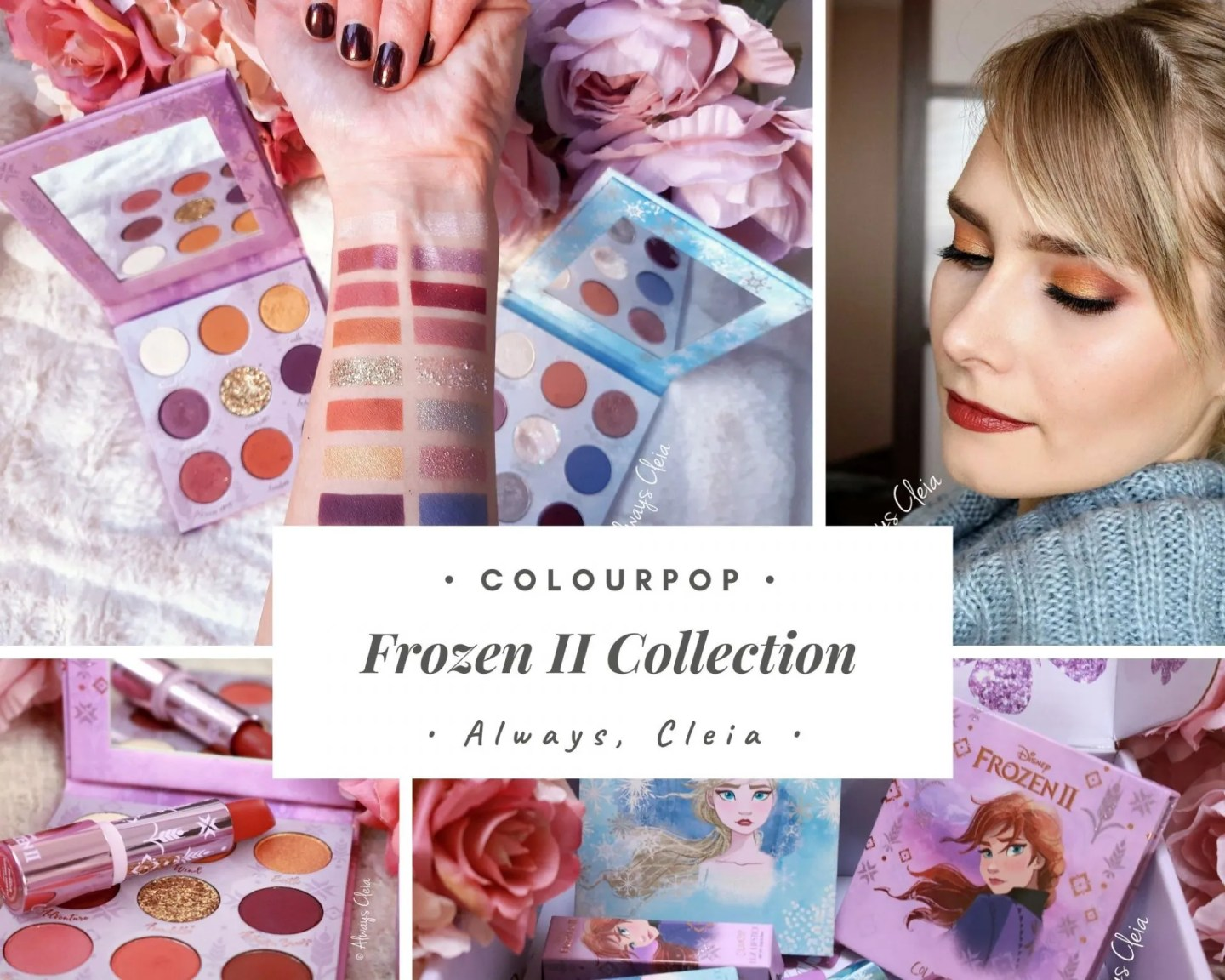 Frozen II X ColourPop Anna & Elsa Palette Reviews + Swatches + 2 Looks
