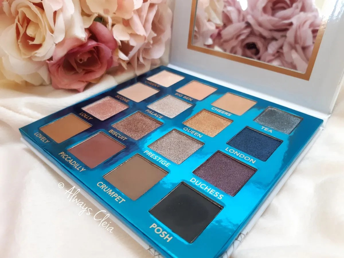 BH Cosmetics Review Love In London Eyeshadow Palette