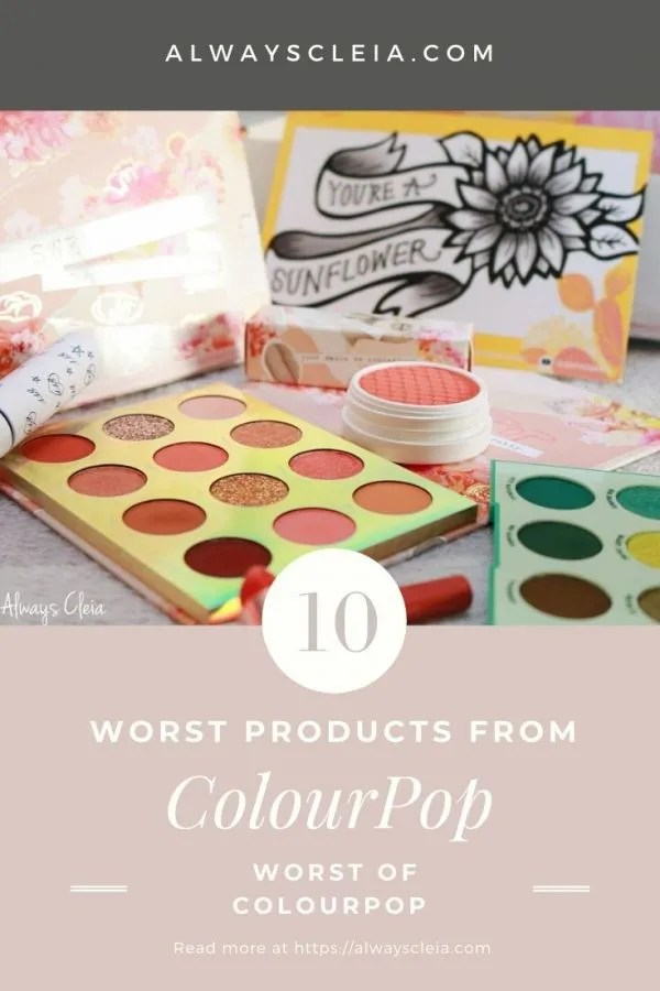 The Worst ColourPop Products