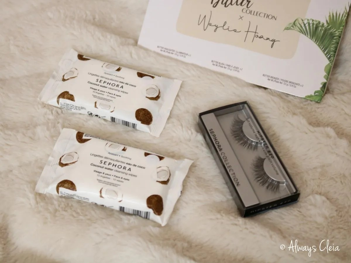 Sephora Collection Coconut Makeup Wipes & Hipster Lashes