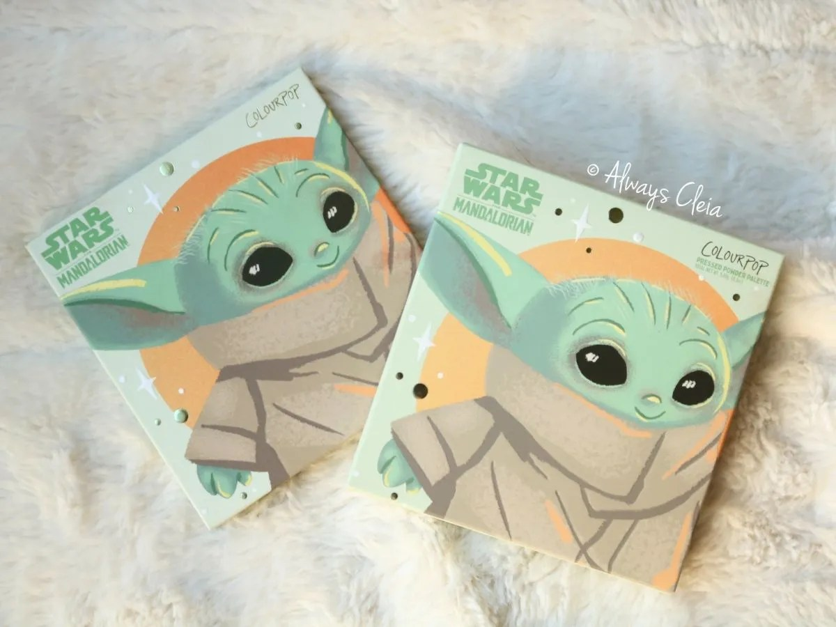 ColourPop The Child Yoda Themed Eyeshadow Palette