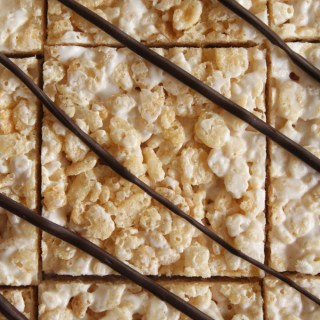 Brown Butter Rice Krispies Treats with Bourbon Marshmallows