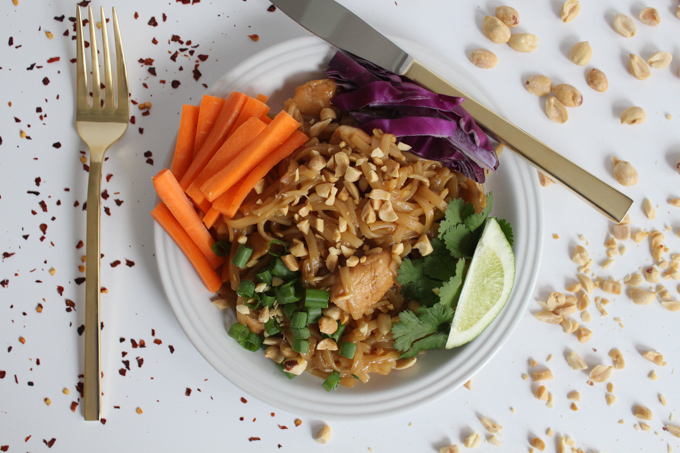Forget takeout! This Chicken Pad Thai recipe will satisfy all your Thai food cravings, and it's dangerously easy to make at home!