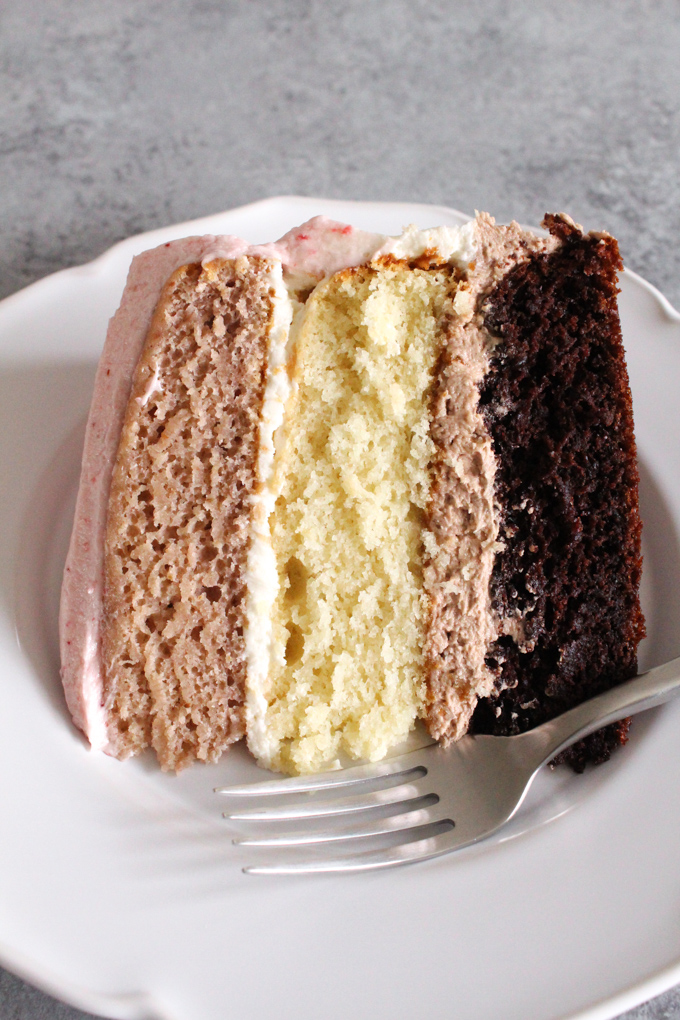 Neapolitan Cake from Scratch ALWAYS EAT DESSERT