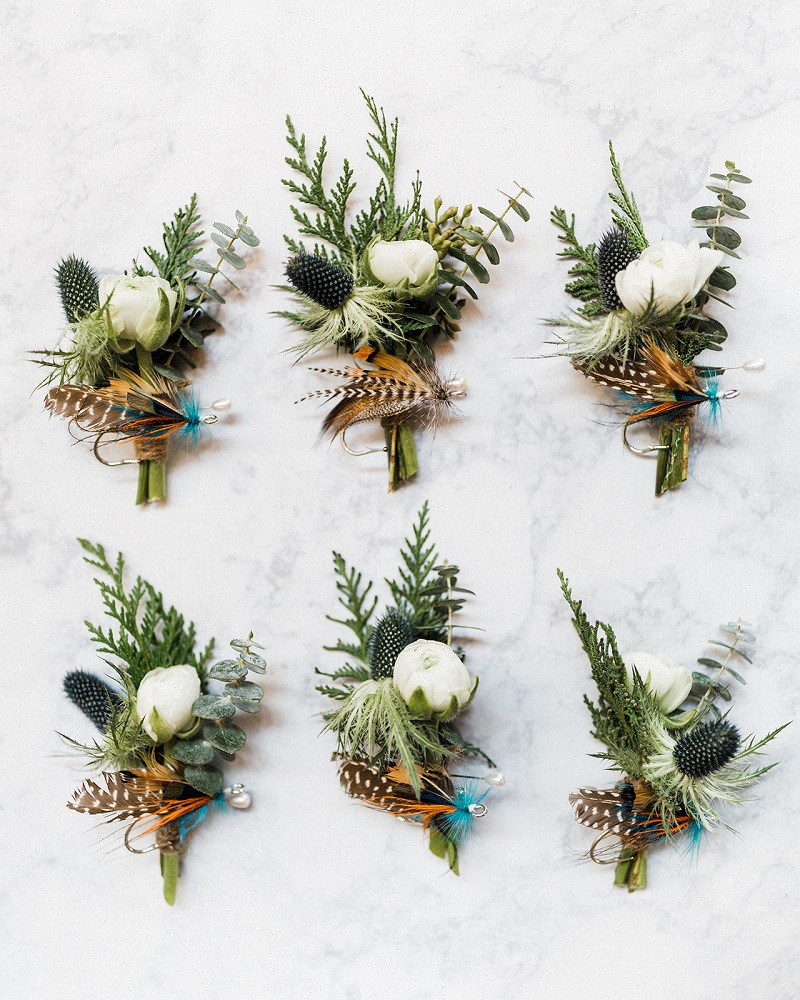 Wedding Fishing Inspired Boutonnieres
