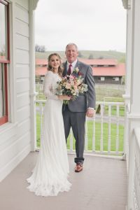 AE Real Bride Michelle & Father of Bride Wedding Day Sonoma Ca
