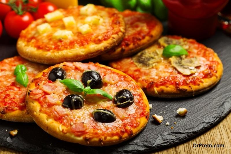 Bite size Pizza's