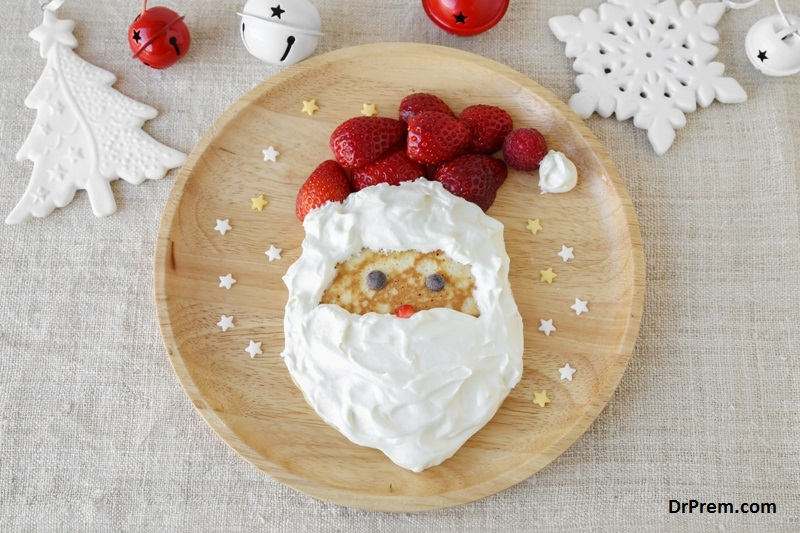 Christmas inspired food decorations