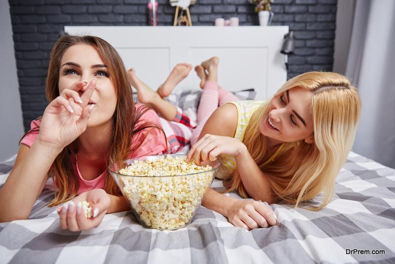 Pizza-popcorn