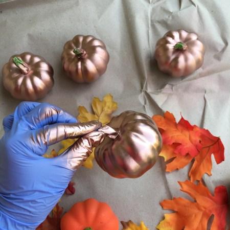 Fall DIY Glitter Pumpkins 03