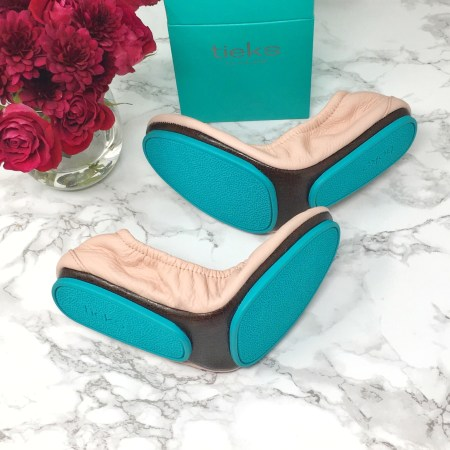 light pink Tieks shoe review